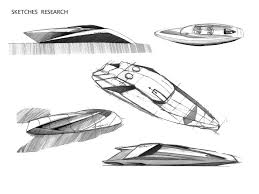 lamborghini sketch side view yacht concept by mauro lecchi at coroflot com