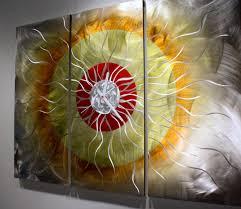 wilmos kovacs original abstract metal wall sculpture rainbow art