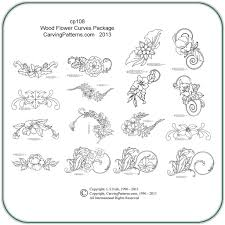 Free Wood Carving Patterns Downloads by Wood Flower Curves Wood Carving U0026 Pyrography Patterns By L S Irish