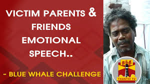 Challenge Victim Exclusive Blue Whale Challenge Victim Parents Friends