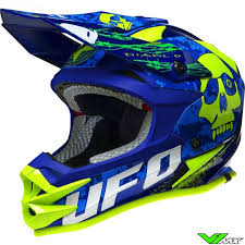 motocross helmet ufo 2017 onyx mx helmet blue green yellow v1mx