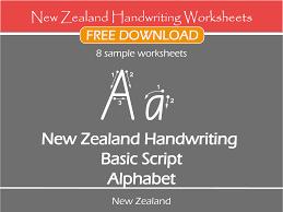 new zealand handwriting worksheets u2013 new zealand basic script