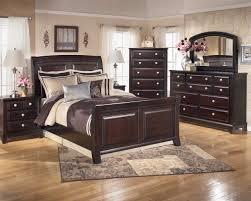 4 piece sleigh bedroom set in dark brown ridgley 4 piece sleigh bedroom set in dark brown