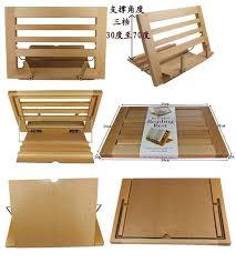 Bookshelf Book Holder Creative Wooden Reading Rest Wooden Shelves Nook Clip Book End
