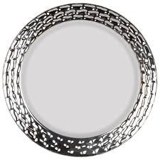 marbella white silver plastic dinner plates smarty had a