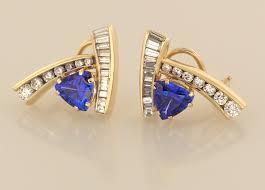 gold diamond earrings tanzanite and diamond earrings earrings artistic innovations