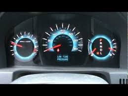 2010 Ford Fusion Dash View Cold Start Youtube