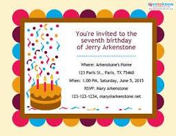 birthday party invitations free birthday party invitations lovetoknow
