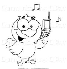 calling birds clipart 11