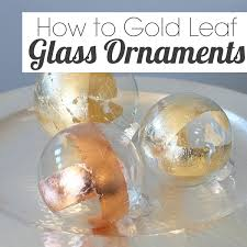 how to gold leaf on glass