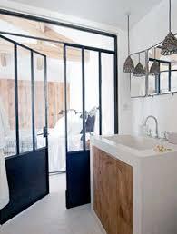 separation pour chambre salle de bain style loft cloison verriere pour separation suite