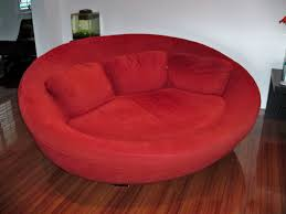 Loveseat Couch Large Red Cellini Ufo Sofa Oval Round Cloth Couch Loveseat Chair