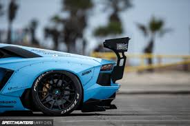 lamborghini custom body kits blue shark attack lb works u0027 aventador speedhunters