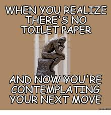 Meme Toilet - when you realize there s no toilet paper and now you re