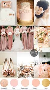 blush rose gold and peach wedding colours sophisticated and