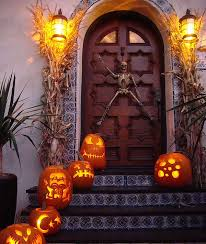 Halloween Patio Decorating Ideas The Best 35 Front Door Decors For This Year U0027s Halloween