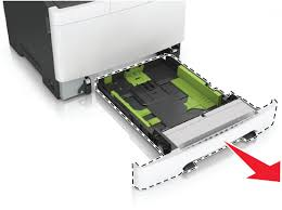 lexmark united states properly paper into paper trays