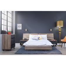 nexera 400691 alibi full size platform bed panoramic headboard and