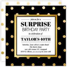 birthday party invitations black and gold birthday invitation 2615 0 big square jpg