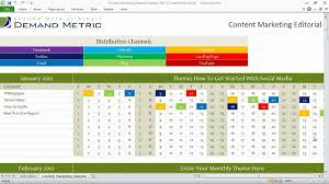 Editorial Calendar Template Excel Content Marketing Editorial Calendar