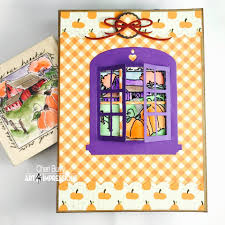 halloween wood blocks art impressions blog challenge 215 orange and purple week 2