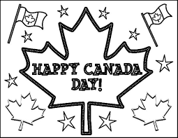 merry celebration on canada day event coloring pages coloring sky