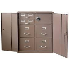 Bookcase With Filing Cabinet Barrister Three Section Steel Storage File Cabinet Bookcase With
