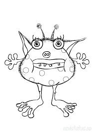 monster coloring page u2013 thaypiniphone