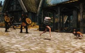 Making My Way Downtown Meme - barrel outfit at skyrim nexus mods and community