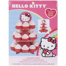 amazon com wilton hello kitty paper cupcake stand holds 24