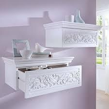 wall shelves amazon vintage style wall shelf with drawer white amazon co uk kitchen