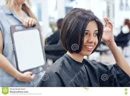 sitting in hair salon stock photo image 78468651