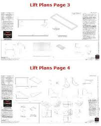 motorcycle lift table plans lift plans pages 3 4 benoboard pinterest bench plans lift