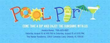 ideas for pool party invitations ecofriendly invitations
