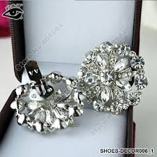 free shipping 4cm rhinestones shoe decoration clip on shoe clip