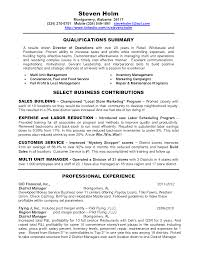 Grocery Store Resume Resume Store Manager Resume Sample
