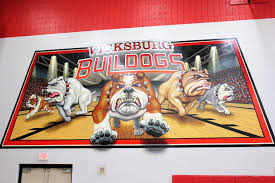 Gym Wall Murals Vicksburg High School Gym Receives Facelift South County News