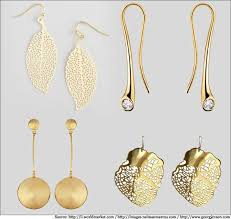 gold earrings design with weight stunning gold earrings in light weight designs metromela s