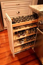 sliding spice rack for cabinet kitchen breathtaking artwood cabinets pull out spice racks top