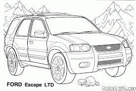 Ford Escape Jeep - coloring page jeep