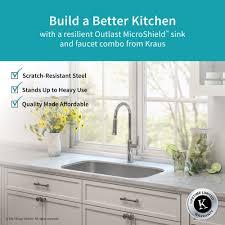 metal kitchen sink and cabinet combo kraus kbu14e 1630 31 1 2 kitchen sink and faucet combo