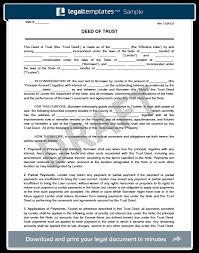 Blind Trust California Deed Of Trust Form Create U0026 Download A Free Deed Of Trust Form