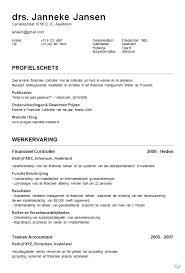 Cv Sjabloon Nederlands curriculum vitae voorbeelden jobcred