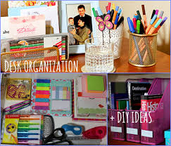 School Desk Organization Ideas Desk Organization Diy Ideas Back To School