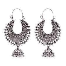 silver earring silver chandbali earring at rs 249 set metal earring id