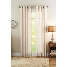 Walmart Sheer Curtain Panels Better Homes And Gardens Semi Sheer Grommet Curtain Panel