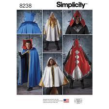 Simplicity Halloween Costumes Pattern 8238 Misses U0027 Men U0027s Teen U0027s Cape Costumes