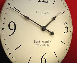 personalized anniversary clocks clocks by wooster clock company