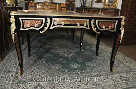 bureau boulle boulle desk writing table buhl inlay bureau plat