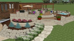 Outside Ideas For Patios Walk Out Patio Designs Patio Ideas A Tiered Patio Creates A